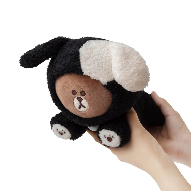 LINE FRINDS PUPPY BROWN Standing Doll Black