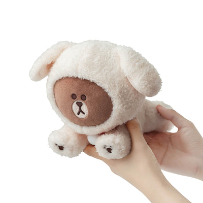 LINE FRIENDS  PUPPY BROWN Standing Doll Ivory