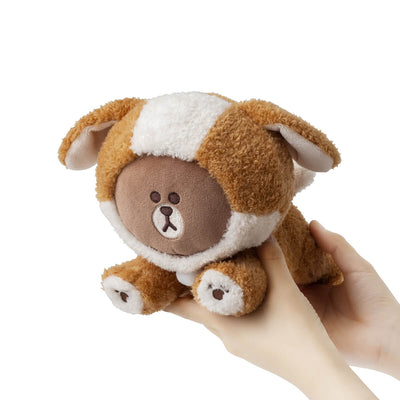 LINE FRIENDS PUPPY BROWN Standing Doll Amber