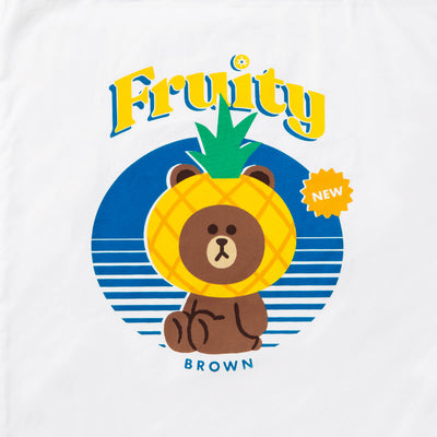 Brown Fruity Eco Tote Bag (M)