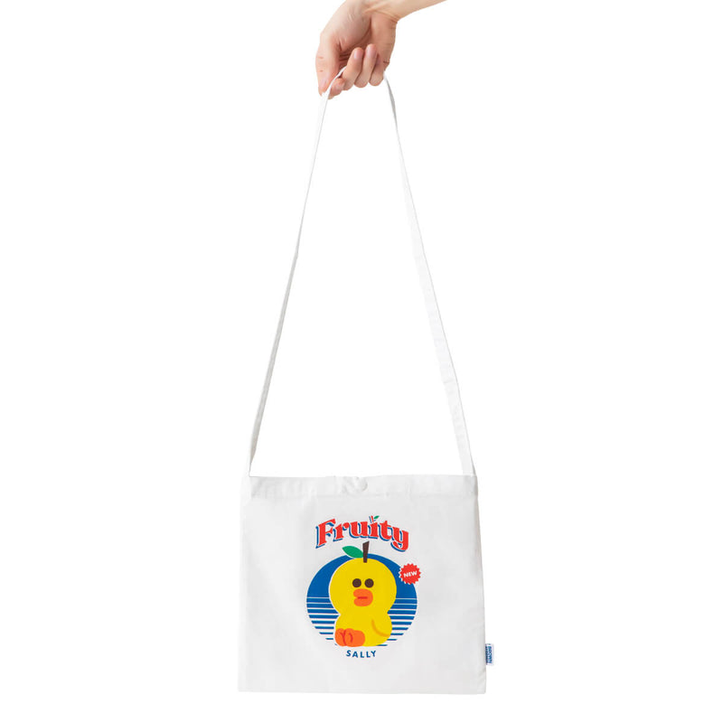 LINE FRIENDS SALLY Fruity Crossbody Tote Bag (S)