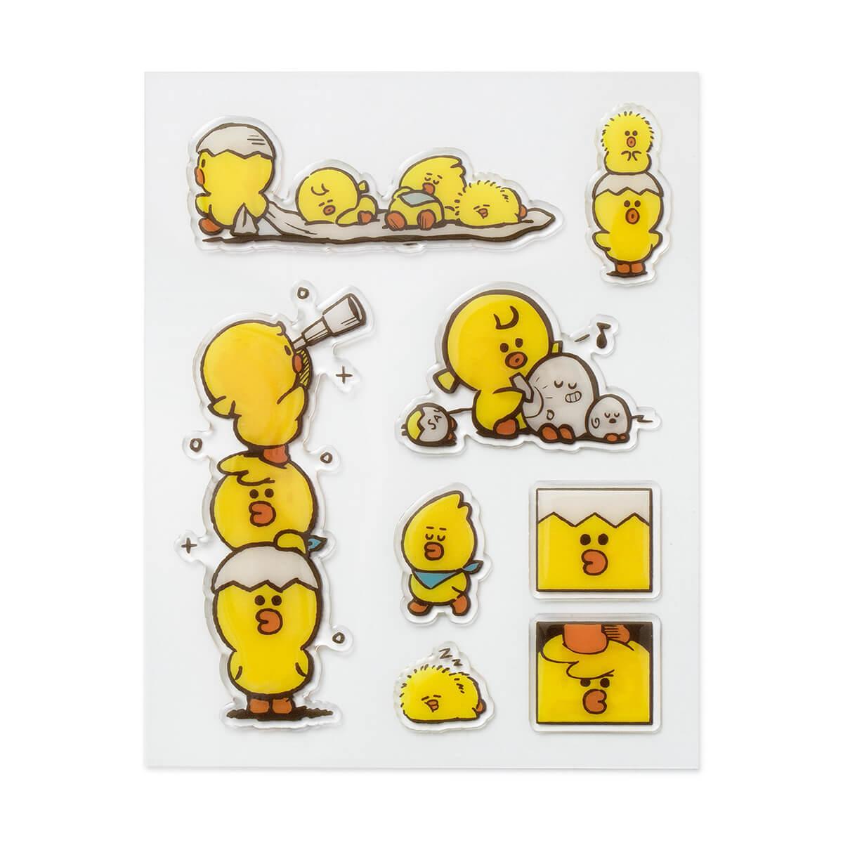 LINE FRIENDS SALLY FRIENDS Epoxy Sticker Sheet (02)