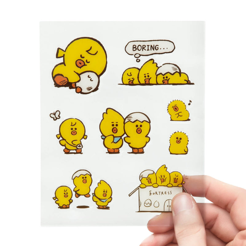 LINE FRIENDS SALLY FRIENDS Epoxy Sticker Sheet (01)