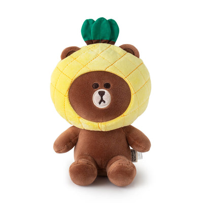 LINE FRIENDS BROWN Fruity Pineapple Sitting Doll (S)