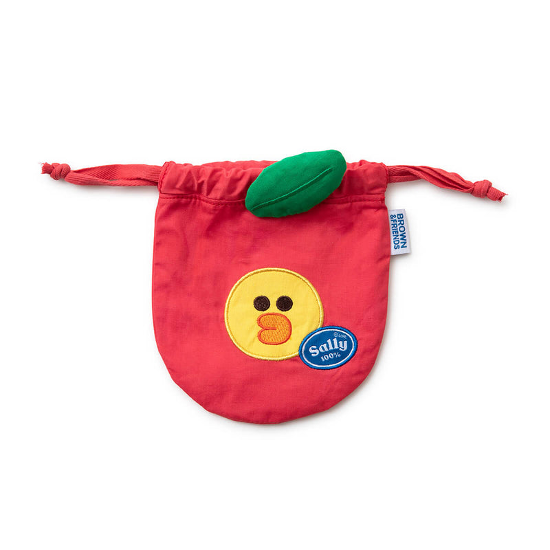 SALLY Fruity Apple Drawstring Cinch Pouch