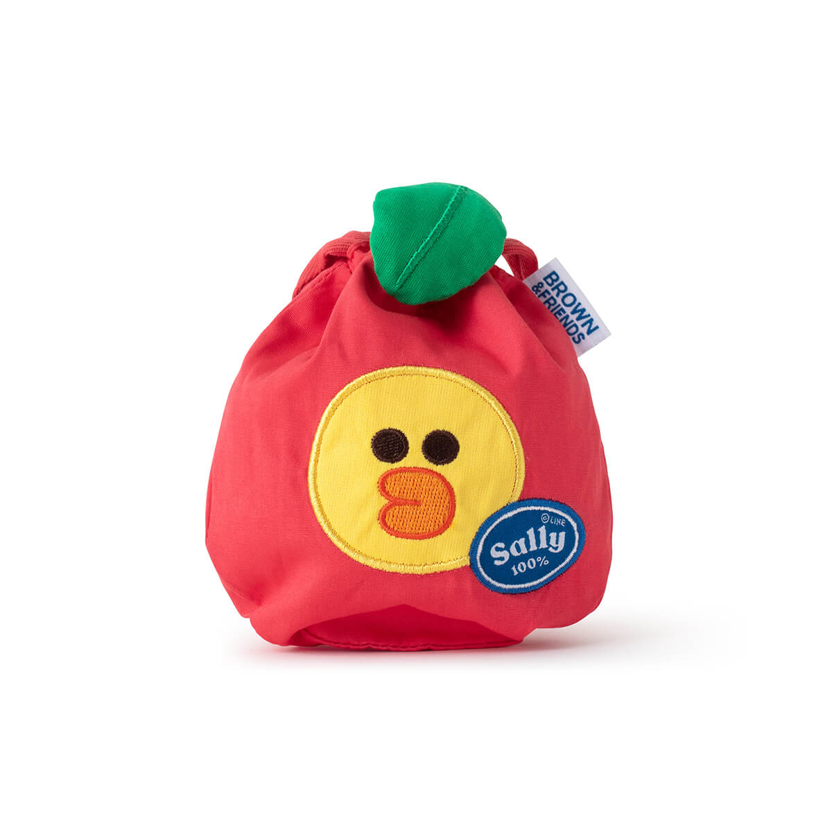 LINE FRIENDS SALLY Fruity Apple Drawstring Cinch Pouch