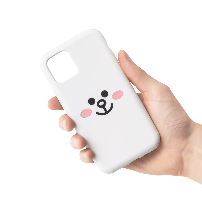 [iPhone 11, PRO] LINE FRIENDS CONY Silicone Phone Case