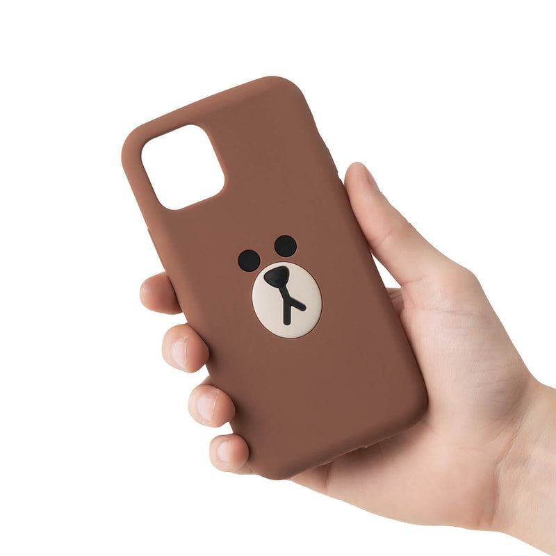 BROWN iPhone 11 Silicone Phone Case