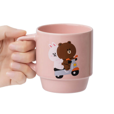 LINE FRIENDS BROWN & CONY Ordinary Day Mug Pink (11oz)