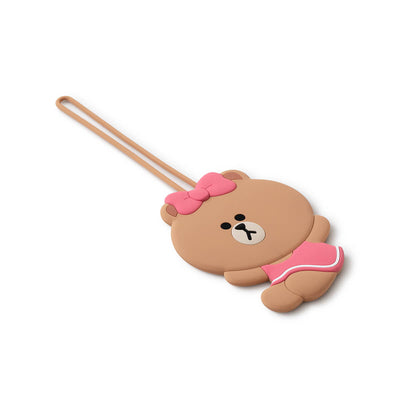 LINE FRIENDS CHOCO Silicone Luggage Name Tag