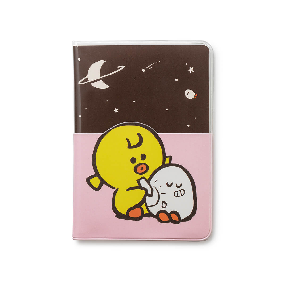 SALLY & FRIENDS Transparent  Passport Cover Pink