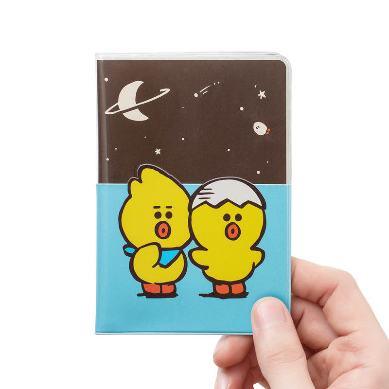 SALLY & FRIENDS Transparent Passport Cover Light Blue