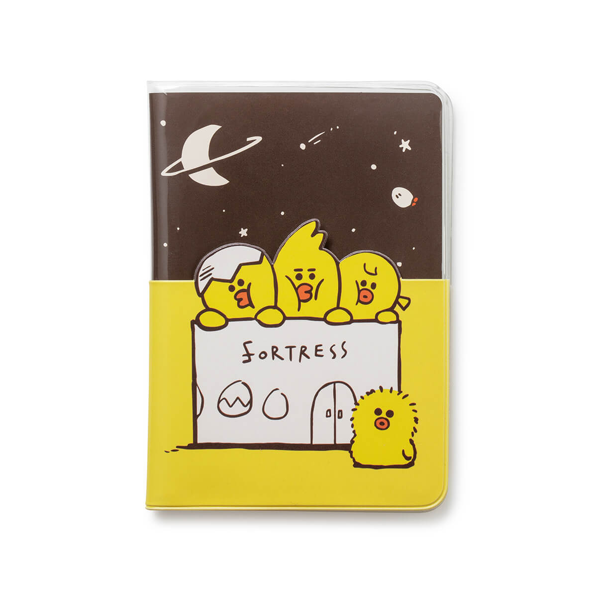 SALLY & FRIENDS Transparent  Passport Cover Yellow
