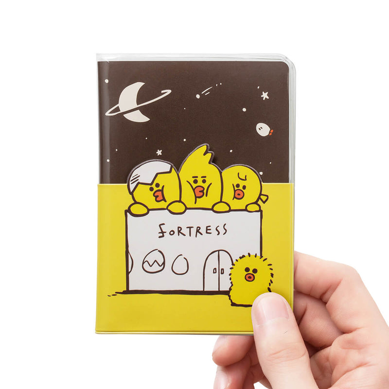 LINE FRIENDS SALLY FRIENDS Transparent Passport Cover Yellow