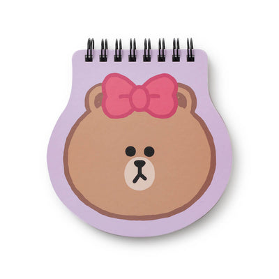 LINE FRIENDS CHOCO Spiral Ring Memo Pad