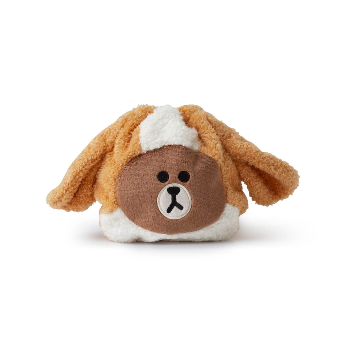 LINE FRIENDS PUPPY BROWN Drawstring Pouch Amber