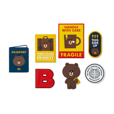 LINE FRIENDS Travel Carrier Sticker Pack