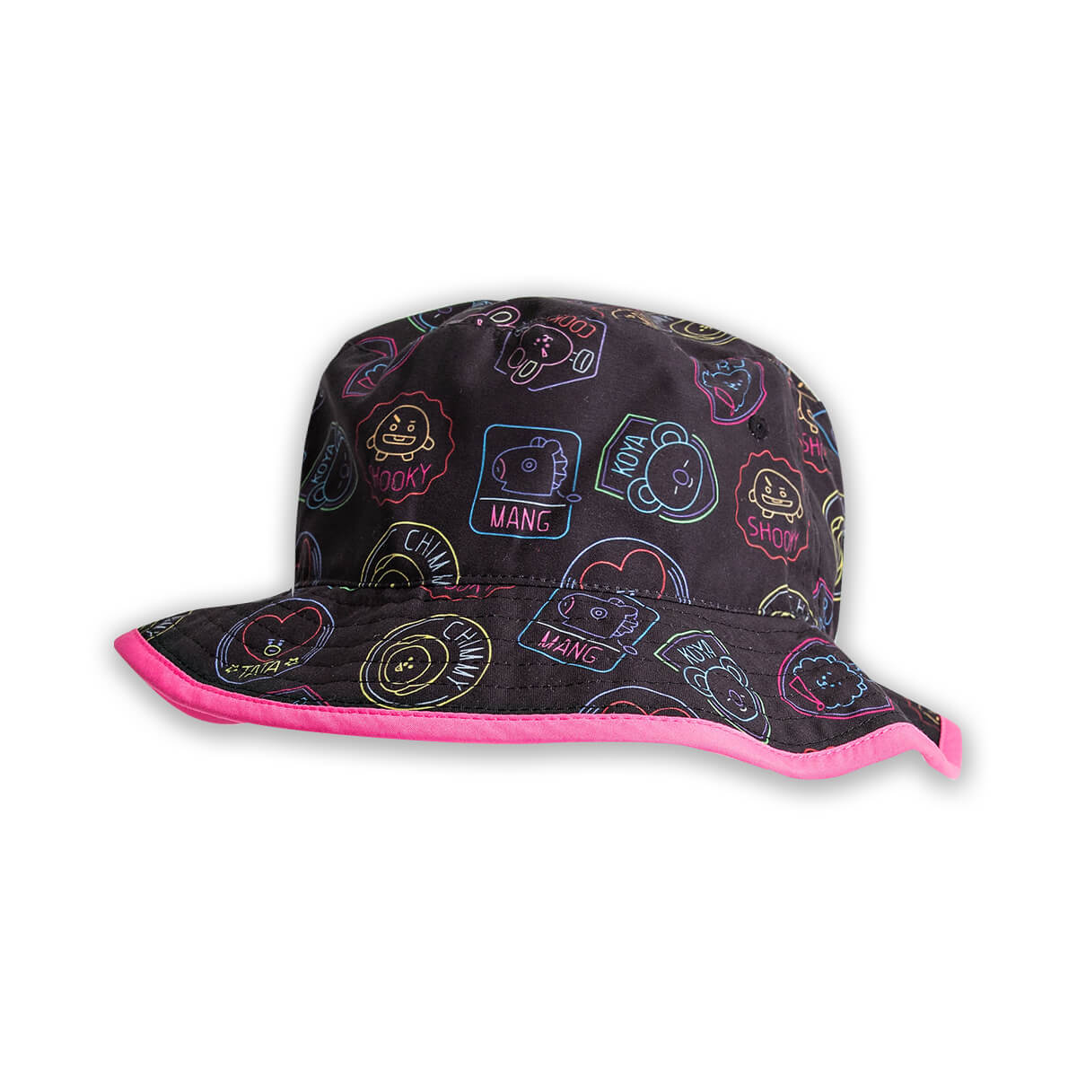 BT21 Neon All Over Bucket Hat