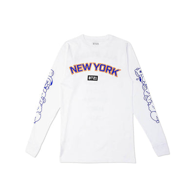 BT21 NY All Stars Name Long Sleeve White
