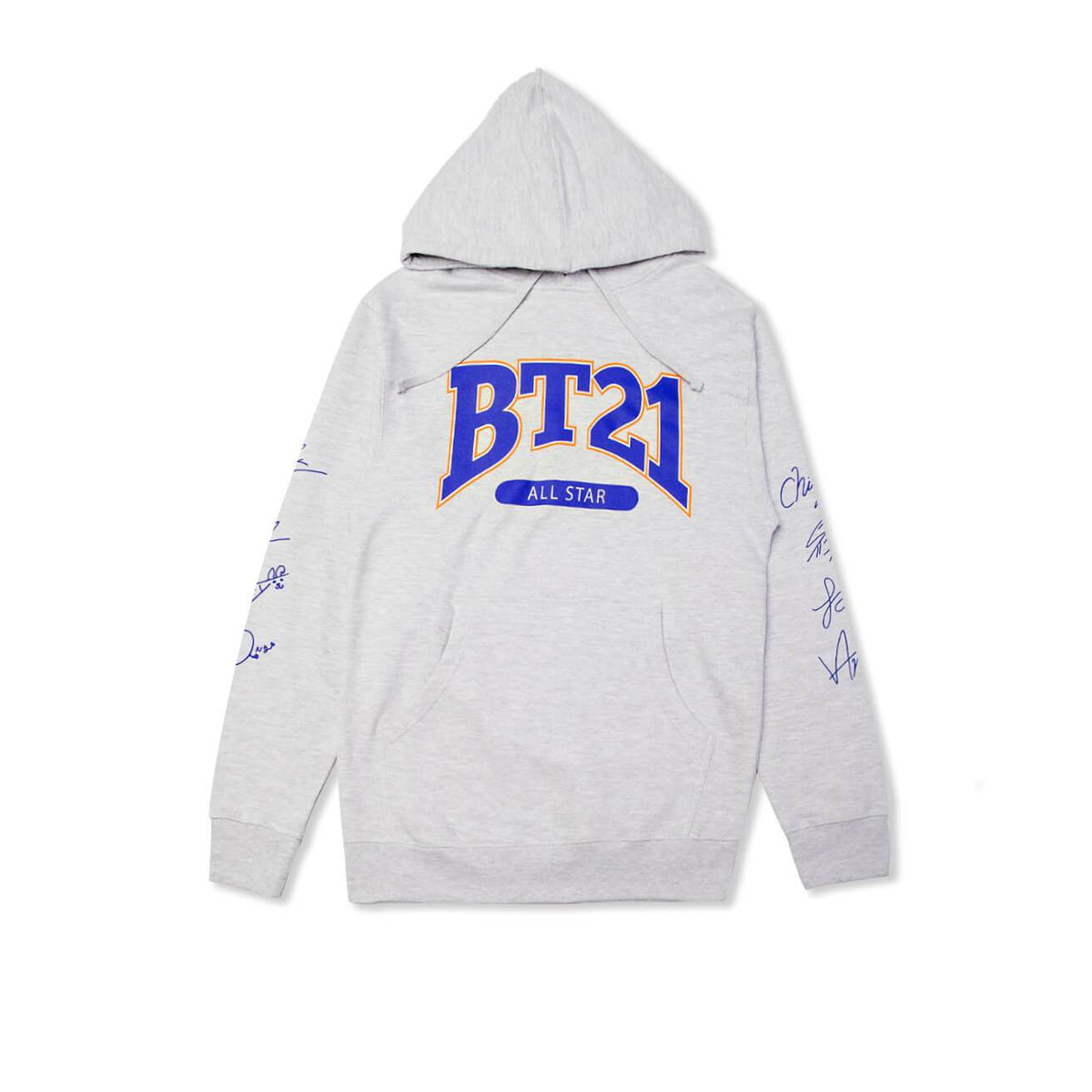 BT21 NY All Stars Hoodie w/ Signatures, Grey