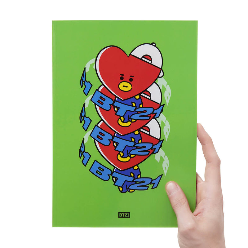 BT21 TATA Heart B5 Notebook