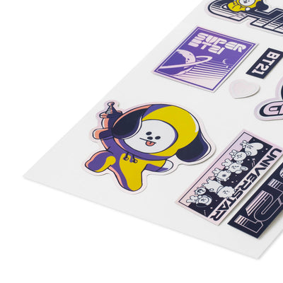 BT21 CHIMMY Space Wappen Holographic PVC Decal Sticker Sheet