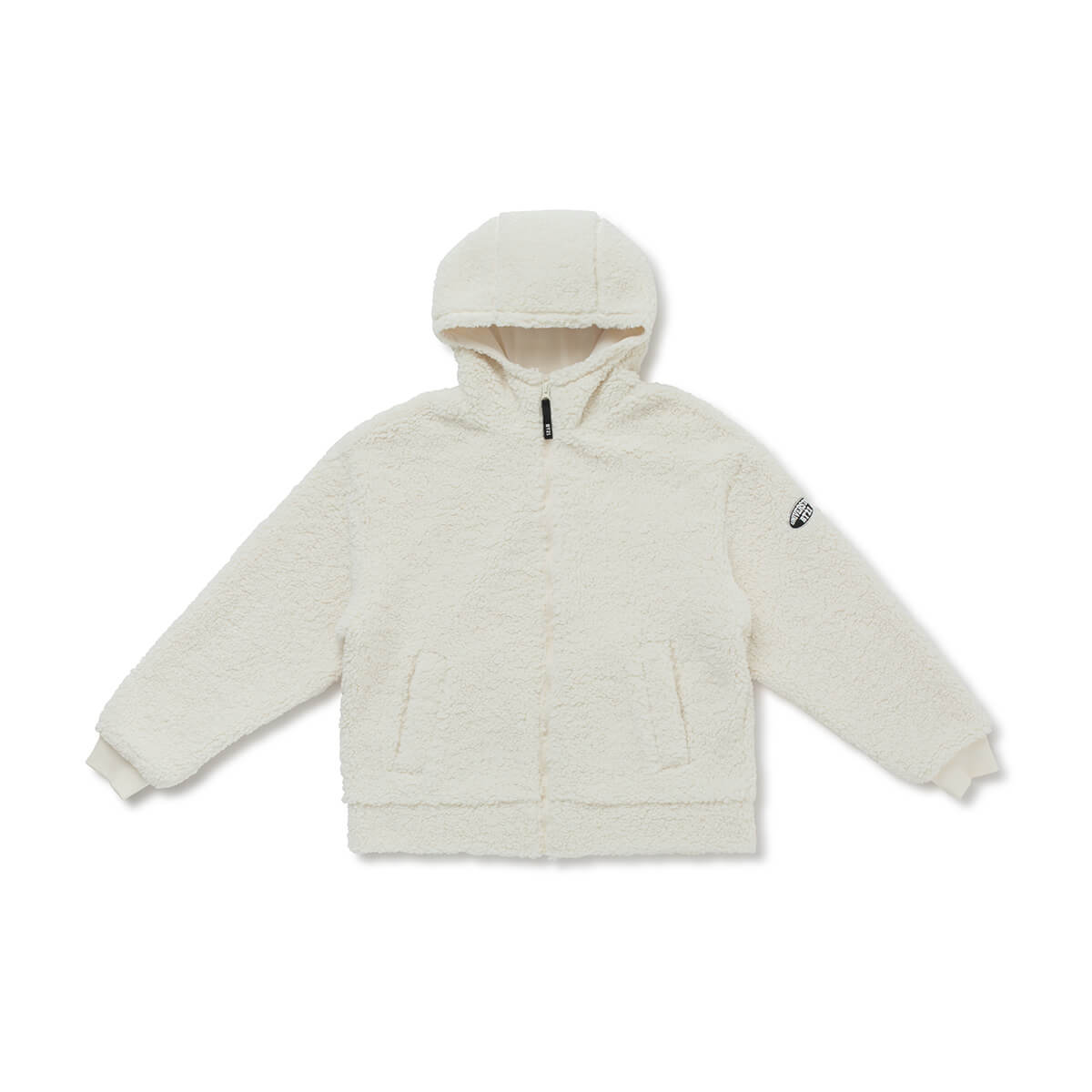 BT21 Universtar Fleece Teddy Zip Up Hoodie Ivory (w/ free gift)