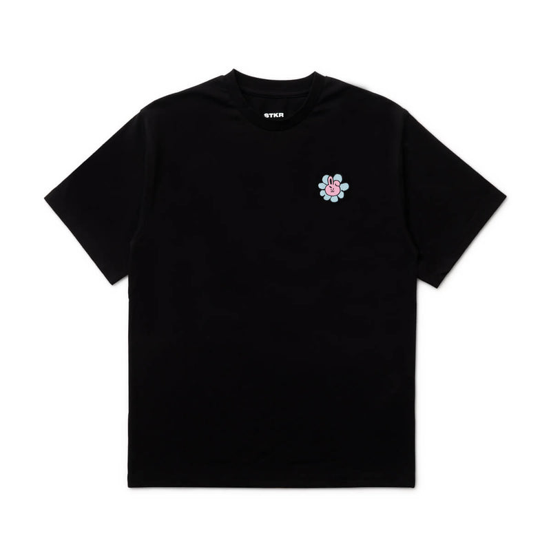 BT21 COOKY 20 FLOWER T-Shirt Black