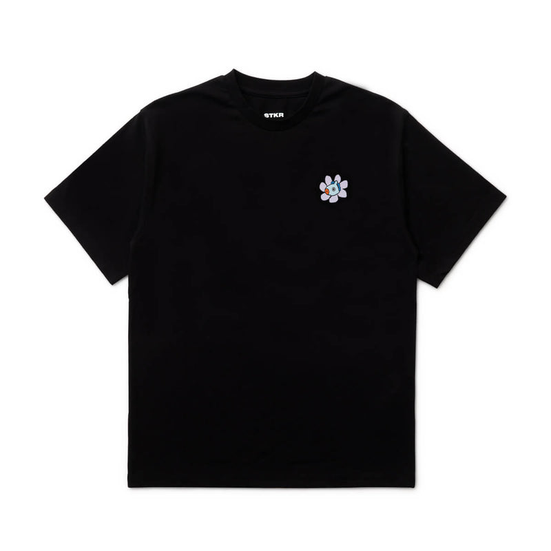 BT21 MANG 20 Flower T-Shirts Black