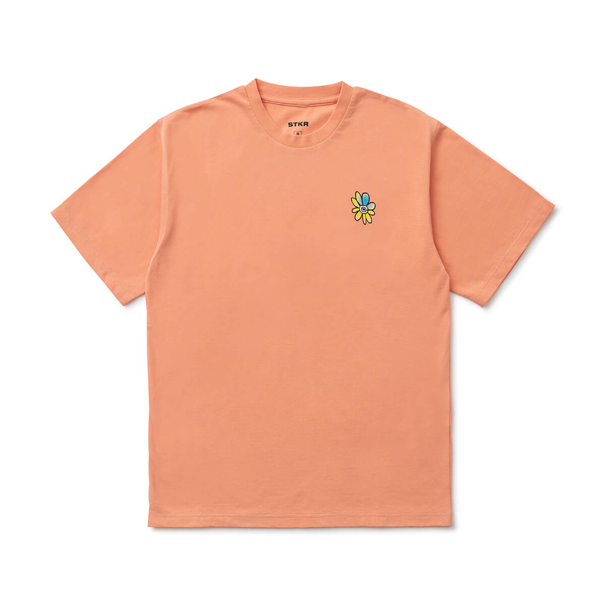 BT21 20 FLOWER Text T-Shirt Coral