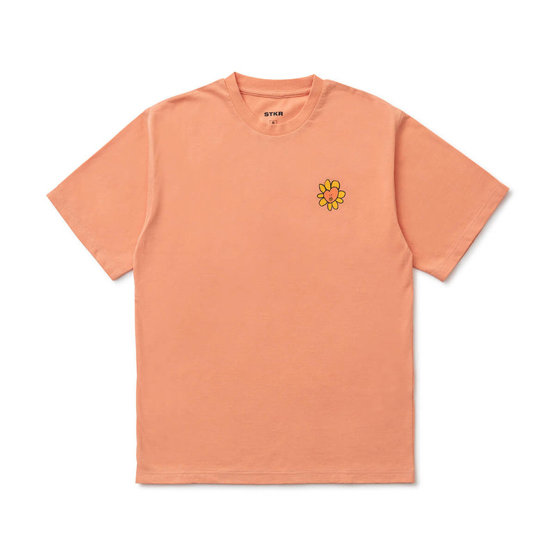 BT21 TATA 20 FLOWER T-Shirt Coral