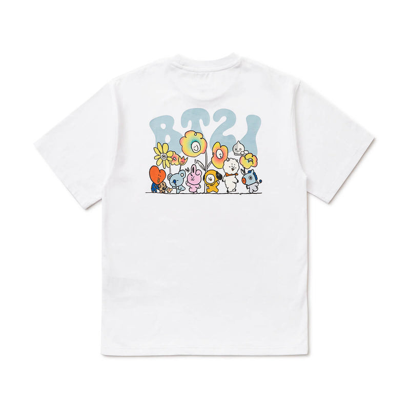 BT21 20  FLOWER T-Shirt White