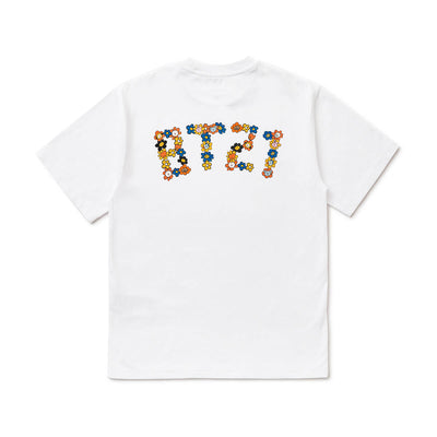 BT21 20 FLOWER Lettering T-Shirt White