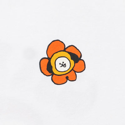 BT21 CHIMMY 20 FLOWER T-Shirt White