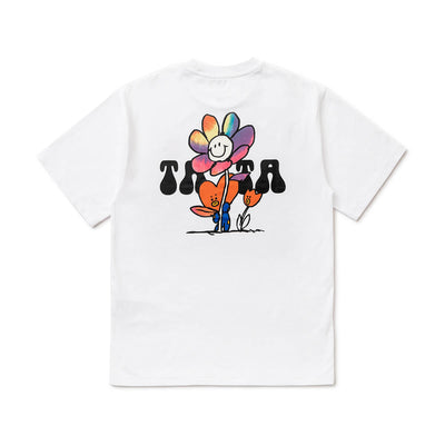 BT21 TATA 20 FLOWER T-Shirt White