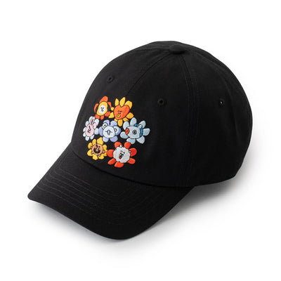 BT21 FLOWER Ball Cap Black