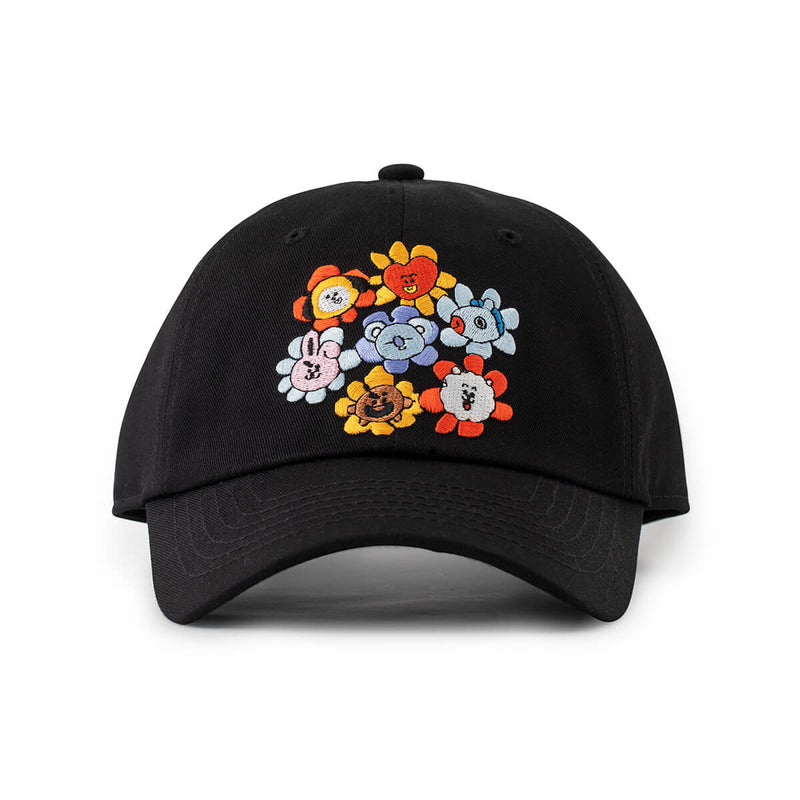 BT21 FLOWER Dad Cap, Black
