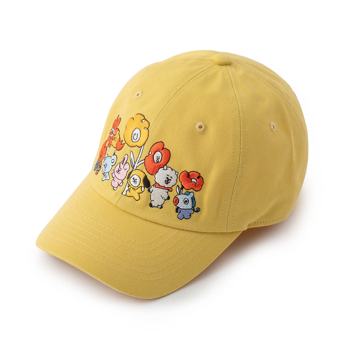 BT21 FLOWER Ball Cap Yellow