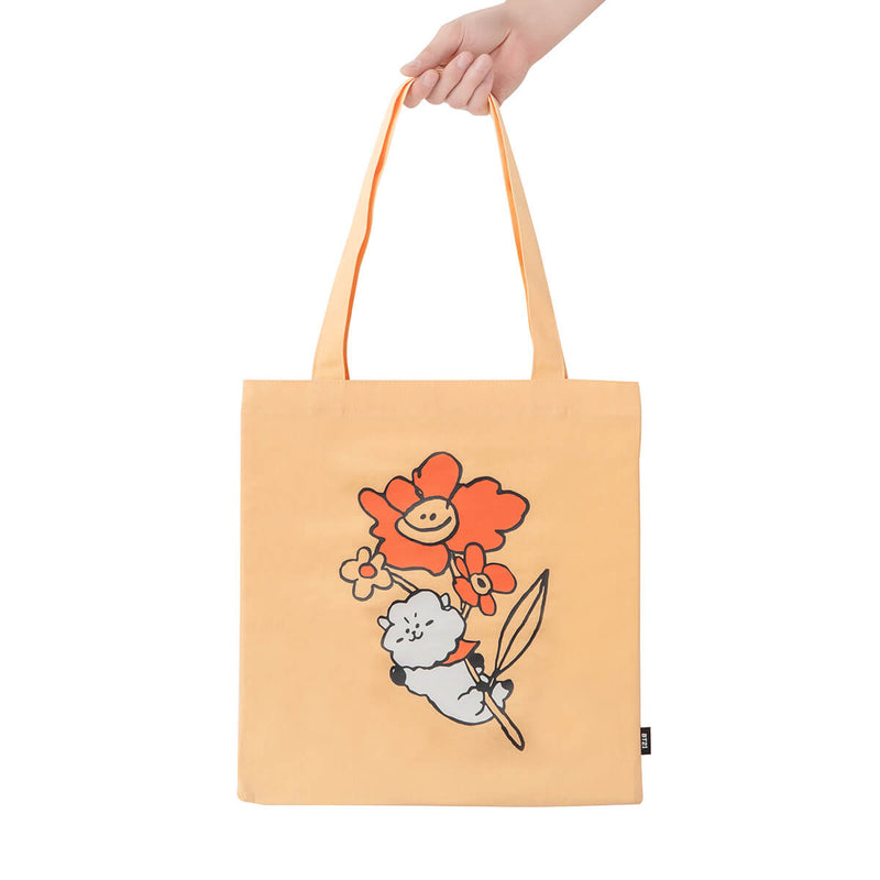 BT21 RJ Flower Eco Bag Light Orange