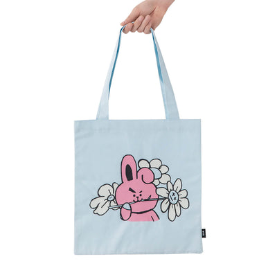 BT21 COOKY Flower Eco Bag Light Blue