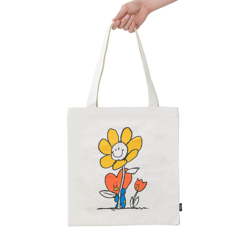 BT21 TATA Flower Eco Bag Ivory