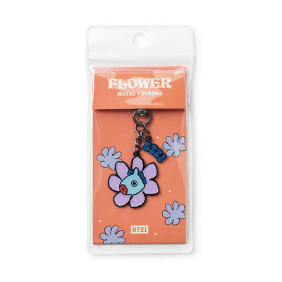 BT21 MANG Flower Metal Keyring