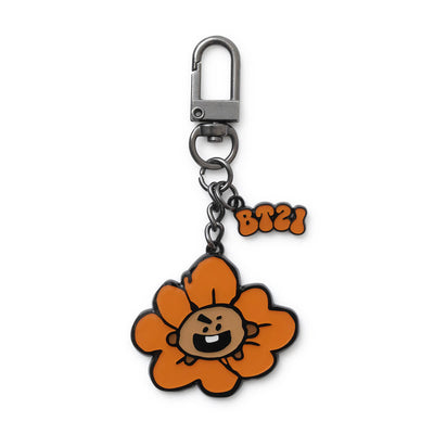 BT21 SHOOKY Flower Metal Keyring