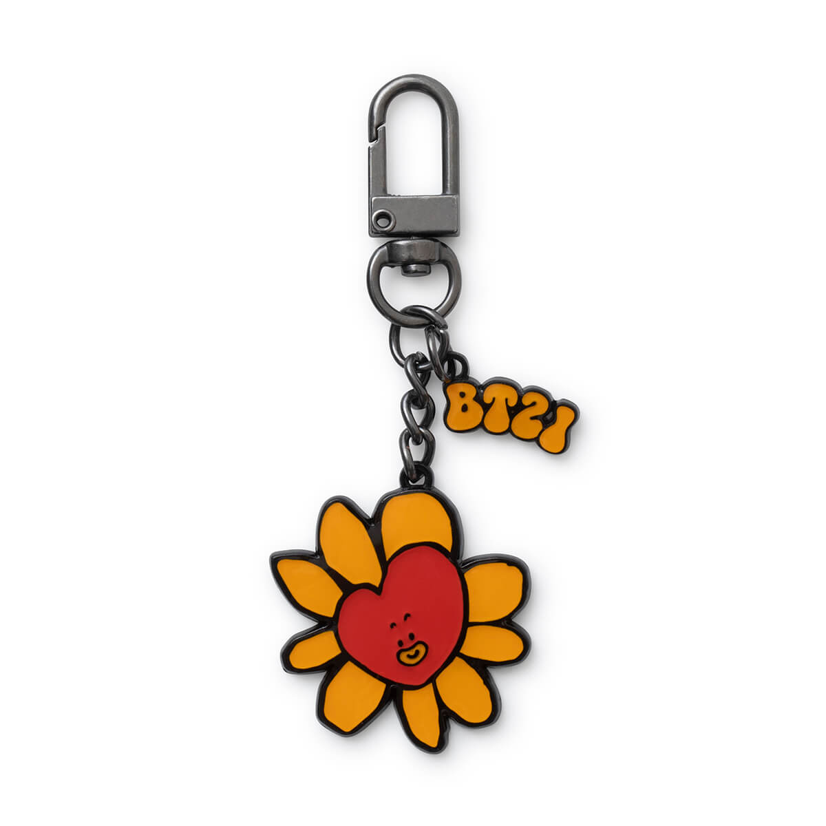 BT21 TATA Flower Metal Keyring