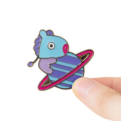 BT21 MANG 20 Space Wappen Metal Badge 2 Piece Set