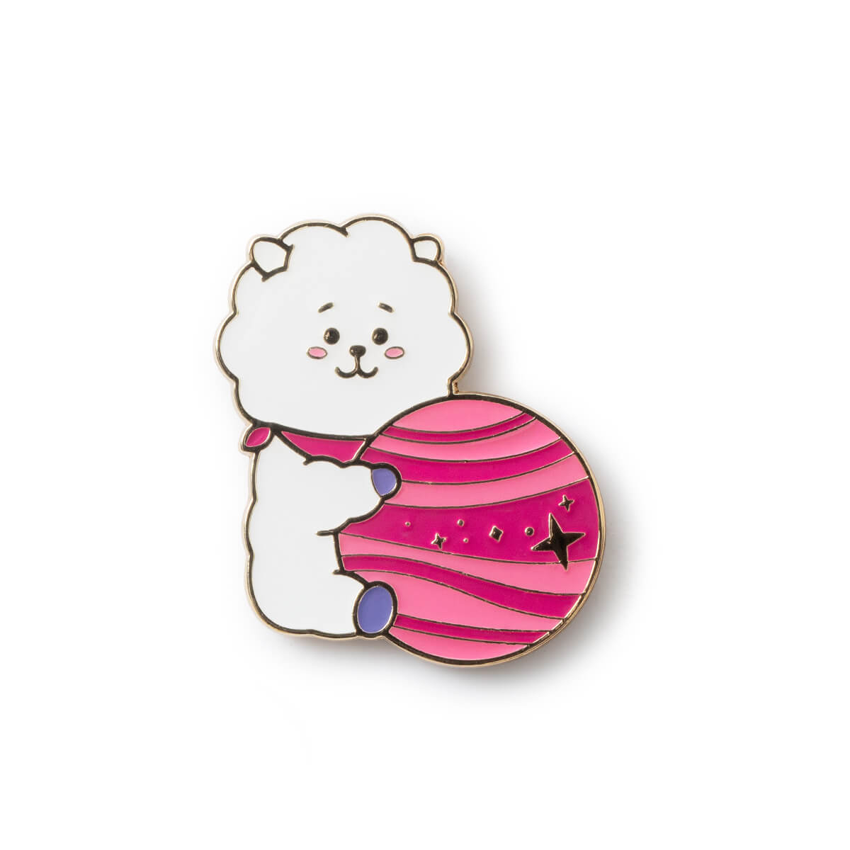 BT21 RJ 20 Space Wappen Metal Badge 2 Piece Set