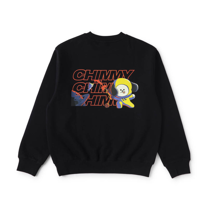 BT21 CHIMMY Space Squad  Sweater Black