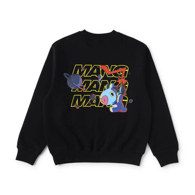 BT21 MANG Space Squad Sweater Black
