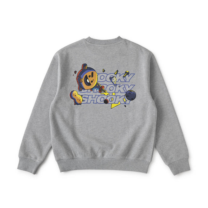BT21 SHOOKY Space Squad Sweater Grey