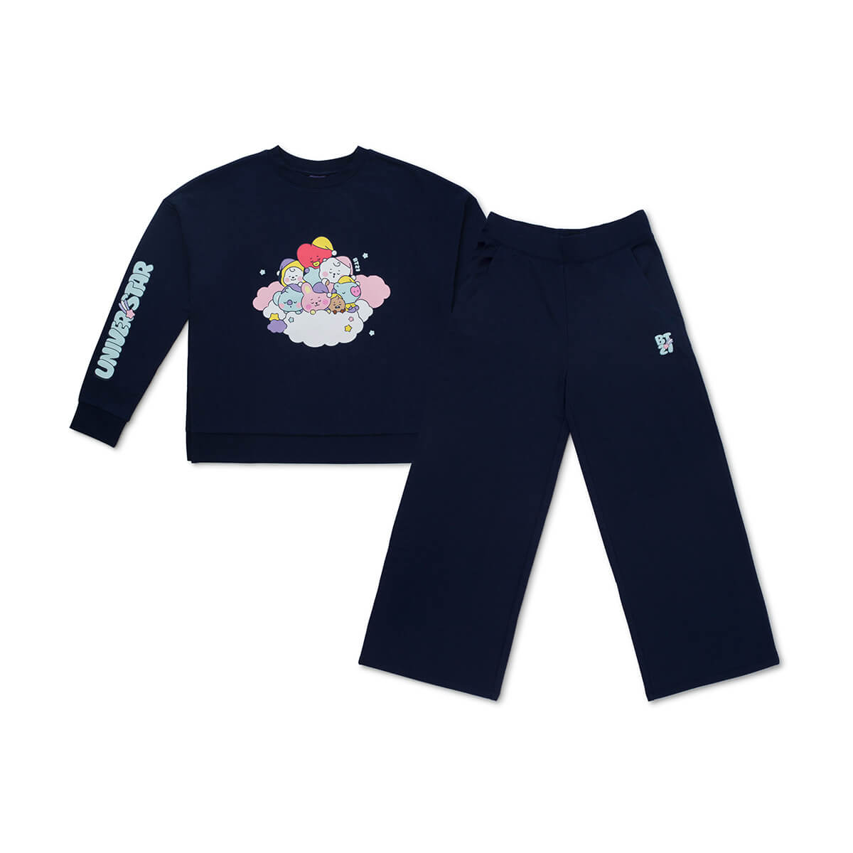 BT21 Dream Adult Pajama Set Navy